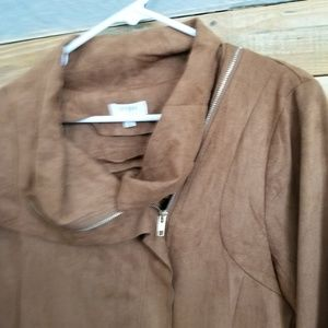 Umgee Jackets & Coats - Umgee USA Suede-Like Tan Blazer Sz L